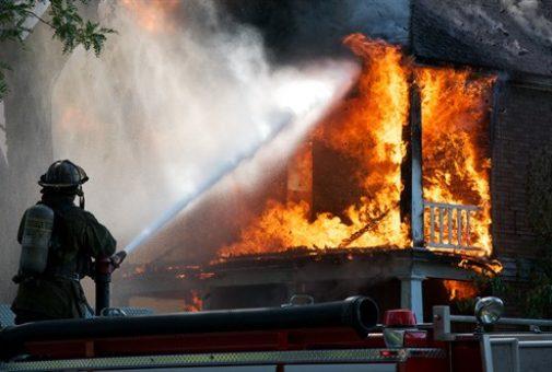 Gebäudebrannt