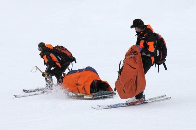 Rettung noch Skiunfall