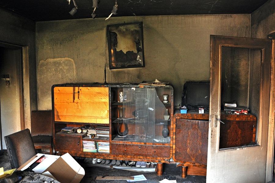 Ausgebrannte Wohnung - Fall für die Versicherung