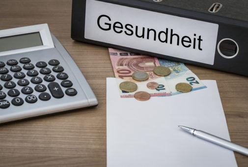 Gesundheit Written On A Binder