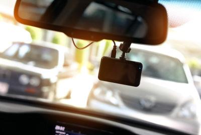 Dashcam bei einem Verkehrsunfall
