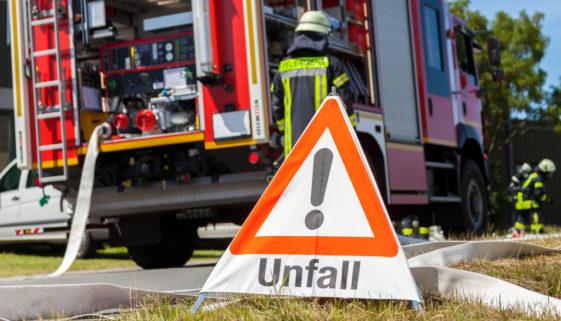 Unfallversicherung - Verletzung eines Feuerwehrmanns während eines Brandeinsatzes