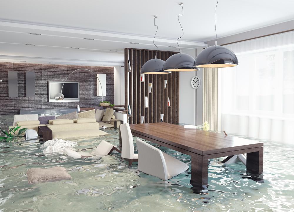 Überschwemmter Hausrat
